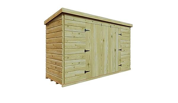 6 x 5 de madera tratada a presión jardín caseta de cobertizo (Tongue & Groove, bicicleta Herramienta Store: Amazon.es: Jardín