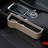 Samber CarGap StorageBox Organizer Console Car Storage Box CupHolderMobilePhoneHolderMultifunctionalAutoAccessories StorageBox/Left-Beige