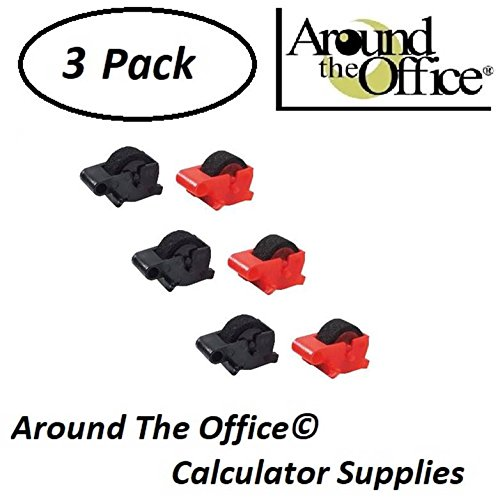 Around The Office Compatible Package of 3 Individually Sealed Ink Rolls Replacement for Sharp EL-1192-G Calculator
