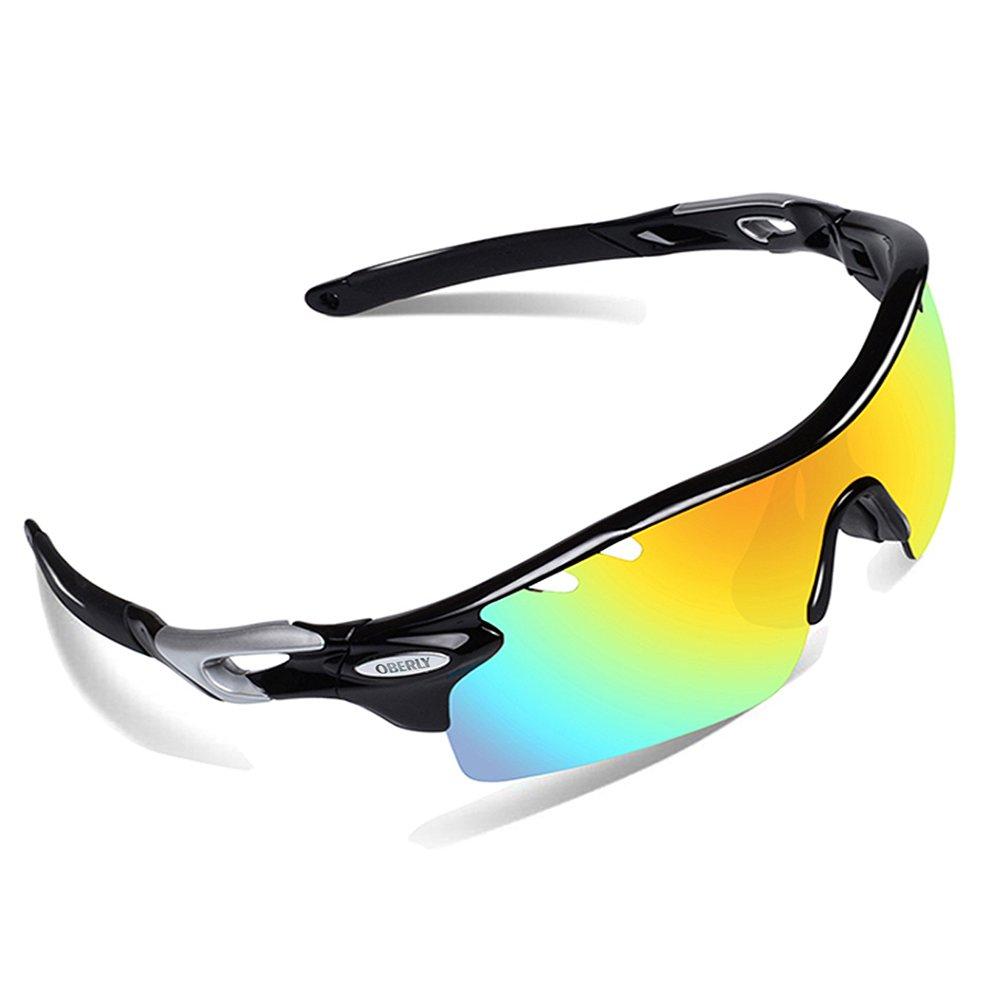 Amazon.com : OBERLY S01 Polarized Sports Sunglasses with 4 ...