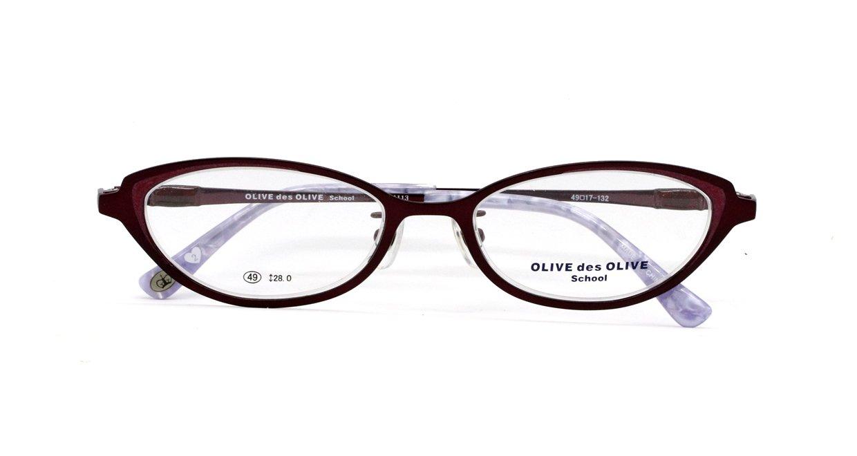 ザ サプリメガネ PCメガネ ブルーライト94% カット 紫外線ほぼ100%カット  OLIVE des OLIVE  度なし(調節補助機能付き) OD-1113 (エンジ)  エンジ B07HY89PNX