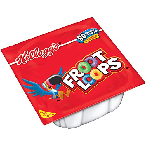 - Kellogg's Froot Loops, Breakfast Cereal Bowl, Single Serve, 0.75 oz Bowl(Pack of 96)