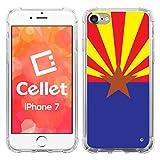 Cellet Design TPU/PC Proguard Cell Phone Case, Apple iPhone 7 - Arizona Flag