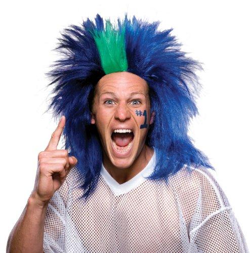 dark blue and light blue wig - 9