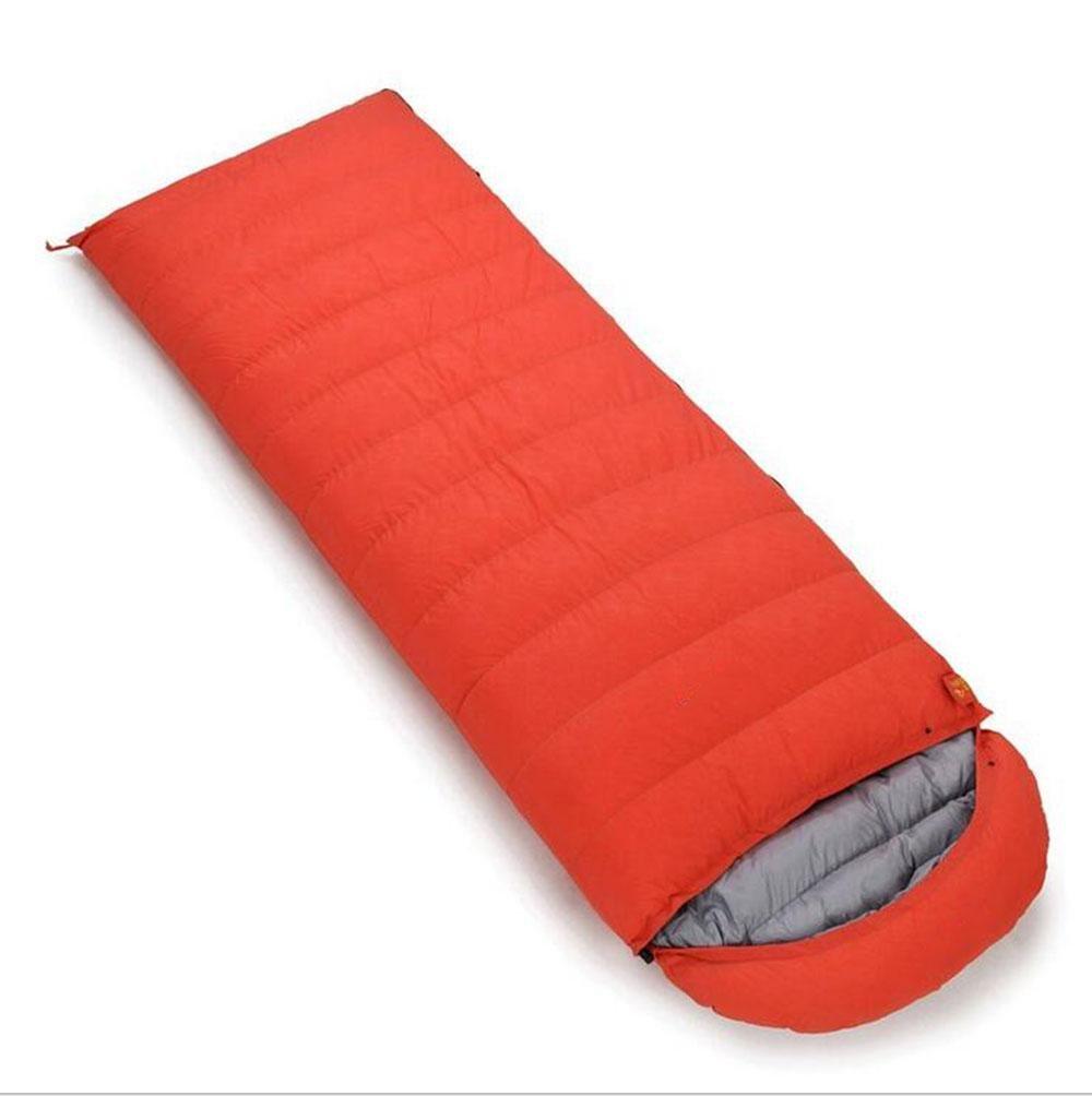 Orange 600 grams of cashmere Z&HX sportsSac de Couchage vers Le Bas Sac de Couchage Ultra - l¨¦ger en Plein air Sac de Couchage Camping Doux enveloppes pour Adultes Paquet de Repas Sacs de Couchage