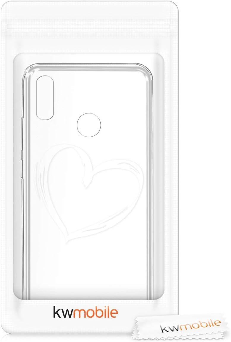 kwmobile Coque Huawei Honor 10 Lite Coque pour Huawei Honor 10 Lite Housse de t/él/éphone en Silicone Bleu-Fuchsia-Transparent