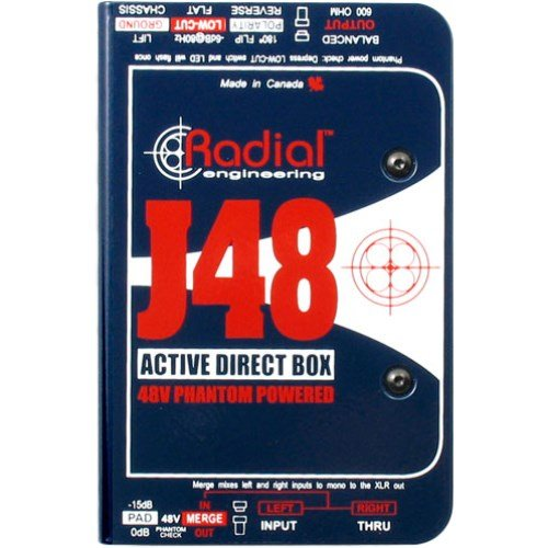 Radial J48 MK2 48V Phantom Power Active Direct Box by Radial Engineering