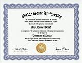 Pickles Degree: Custom Gag Diploma Doctorate Certificate (Funny Customized Joke Gift - Novelty Item)