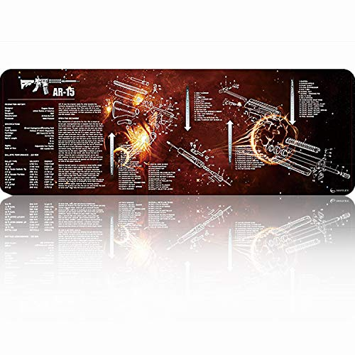 HAYLEY Exclusive Gaming Mouse Pad,Professional Seaming, Microfiber Surface, Waterproof Non-Slip, AR-15 Gun Pad, Extended - XX-Large 36