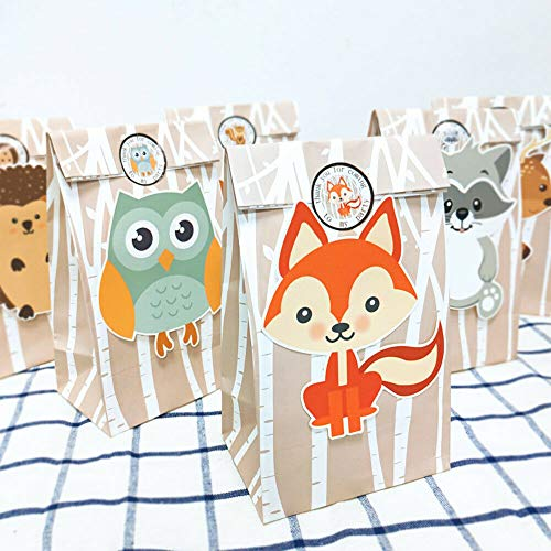 2x24Pcs Jungle Animals Candy Box Sweet Treat Gift Bag Birthday Party Favour TkPenguin from Unknown