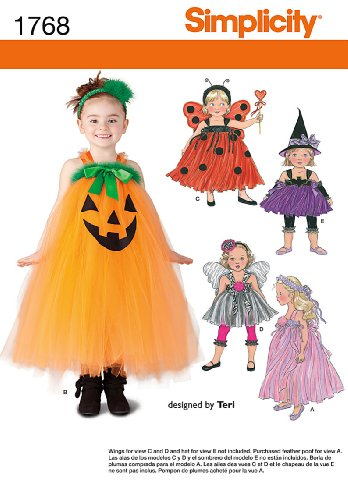 Simplicity 1768 Toddler and Child Costume Sewing Pattern,