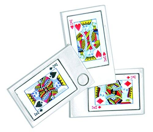 Cartes à jouer Ace & King ouverture boutons de manchettes-Rhodié-cadeau