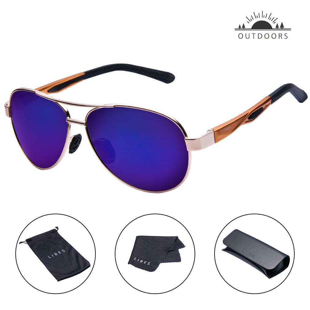0ebad47481 TAIQX Polarized Sunglasses - TAC Aviator Polarized Eyeglass for Male and  Female Outdoor Activities - UV400 Lightweight Adjustable Metal Frame Driver  ...