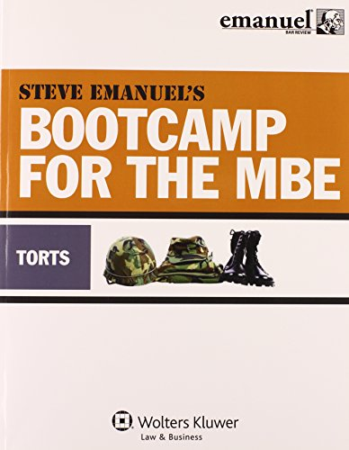 MBE Bootcamp: Torts (Bootcamp for the (Mbe Boot)