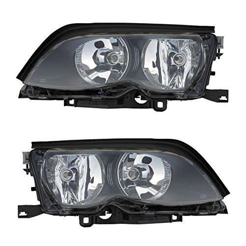 (Halogen Headlight Headlamp Pair Set for BMW 3 Series Sedan Station Wagon)