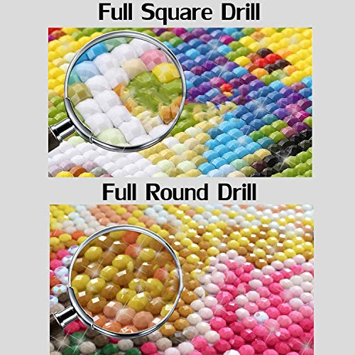 Wild-lOVE Full dispaint/Square/Round Drill 5D DIY Diamond Painting Animal cat Embroidery Cross Stitch 3D Home Decoration a12848,Square Drill 120x120 by Wild-lOVE (Image #2)