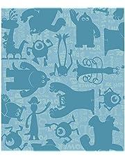 York Wallcoverings Walt Disney Kids II Graphic Monsters Wallpaper Memo Sample, 8-Inch x 10-Inch, Aqua/Teal