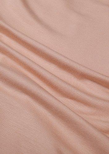 a0b9ca812262 ... Yulee Damen Thermounterwäsche Set Einfarbige Einfache Stil Hemd und Hose  in europäischen Größen Beige CFhnqW ...