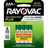 RAYOVAC AAA 4-Pack RECHARGEABLE PLUS Batteries, PL724-4 GENE