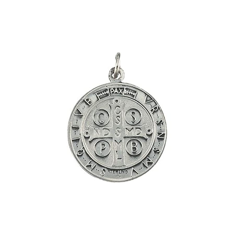 Bonyak Jewelry 14k Yellow Gold 18.5mm St. Benedict Medal