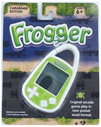 Unbranded* FROGGER Handheld Electronic GAME Arcade Konami Frog Lily Travel Carabiner Mini