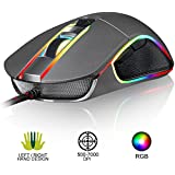 ⭐️Klim AIM Gaming Mouse - Chroma RGB - Precise - Wired PC PS4 USB - Adjustable 500 to 7000 DPI - Programmable Buttons - Comfortable for All Hand Sizes - Ambidextrous & Ergonomic Grip for Laptop Gamer