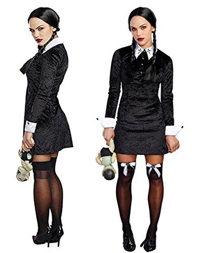 Friday Addams Costume (Adult size Friday Costume - 4 sizes - Wednesday Addams)