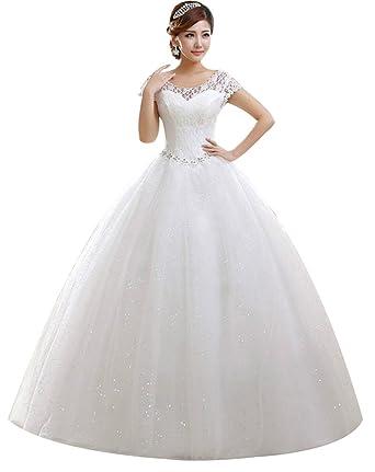 Eyekepper double shoulder floor length bridal wedding dress eyekepper double shoulder floor length bridal gown wedding dress custom size 6 junglespirit Images