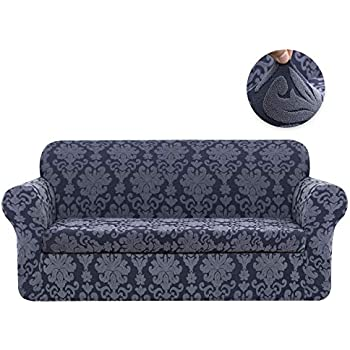 Amazon.com: CHUN YI Jacquard Sofa Covers 2-Piece Stretch ...