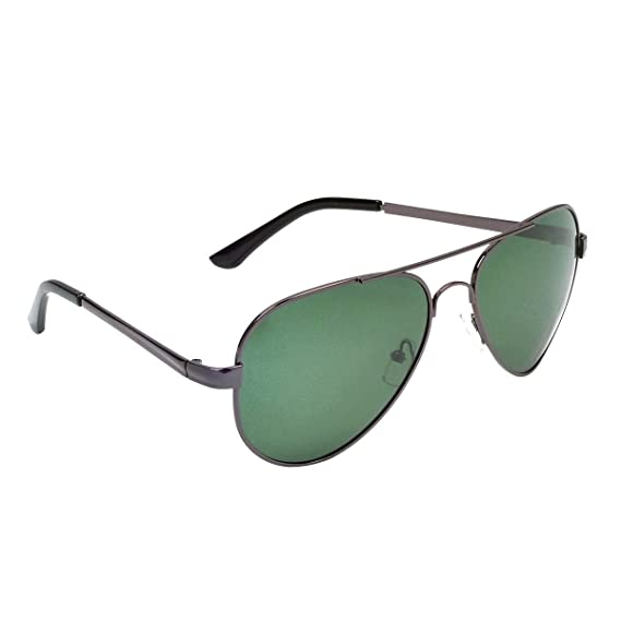 85e44636e15 Hawai Fashionable Black Rimmed UV Protected Unisex Aviator Sunglass   Amazon.in  Clothing   Accessories