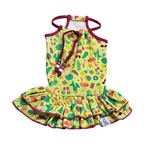 Vestido Pickorruchos Ibiza para Cães e Gatos Colorido Tamanho 0