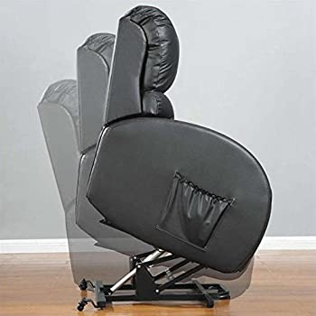 Coaster 600416 Power Lift Recliner With Black Leather Match Upholstery & Amazon.com: Coaster 600416 Power Lift Recliner With Black Leather ... islam-shia.org