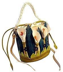 ilishop Womens Retro Drawstring Bucket Tote Bags (Multicoloured)