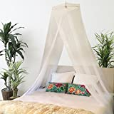 Premium Large Mosquito Net Bed Canopy + Bonus Hanging Decorations I Queen, Full or Twin I Boho Décor I By BOHO & BEACH