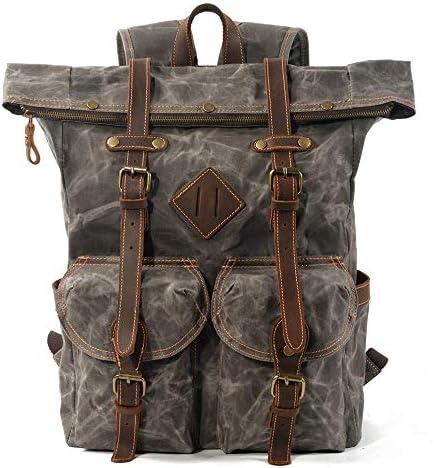 Yaunli Männer Rucksack Mens Rucksack Casual Daypacks Rucksack Laptop Rucksack Wandern Travel College Bag wasserdicht Tasche Laptop Rucksack (Farbe : Dark Green, Size : 38x15x45cm)