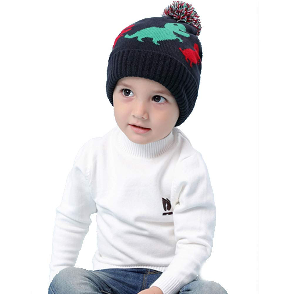 60f975b54bcca2 Amazon.com: VAQM Baby Winter Hat Kids Beanie Hats Boys Knit Warm Caps  Toddler Pom Cartoon Dinosaur Hat for Autumn Winter (Baby Winter Hat for  Medium): Baby