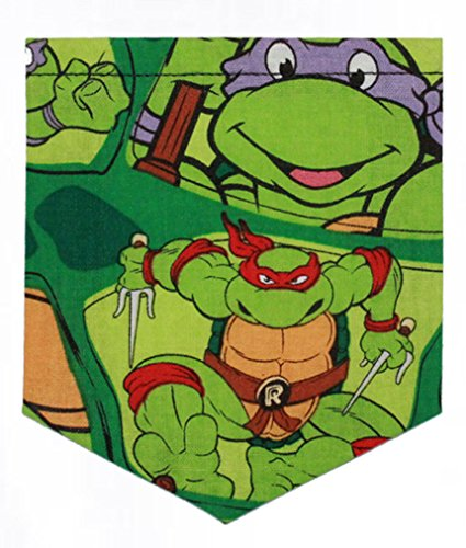 T's and Tots Men's Teenage Mutant Ninja Turtle Pocket Tank Top-Medium Black