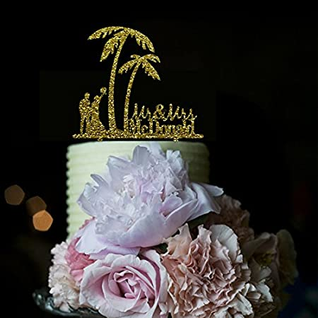 51kOgmlNp4L._SS450_ The Best Palm Tree Wedding Cake Toppers