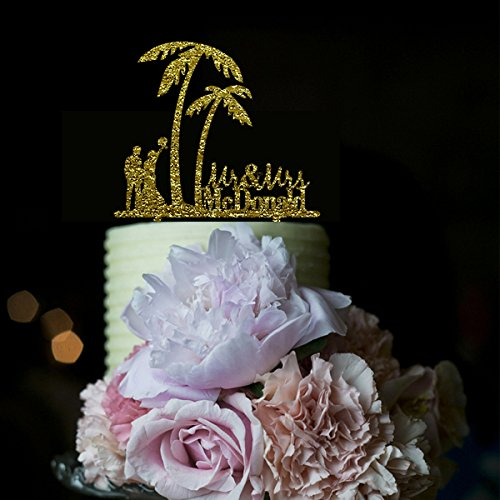 51kOgmlNp4L The Best Palm Tree Wedding Cake Toppers