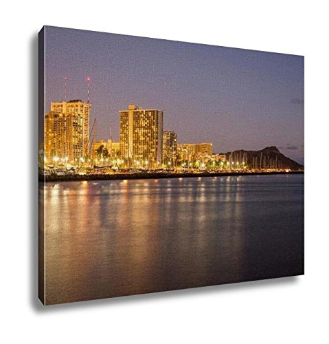 Ashley Canvas, Panorama Of Waikiki Honolulu Hawaii, Home Decoration Office, Ready to Hang, 20x25, AG6402853 by Ashley Canvas