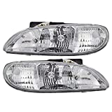 Winnebago Journey 2004-2007 RV Motorhome Pair (Left & Right) Replacement Front Headlights with Bulbs