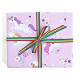 Sea Urchin Studio Gift Wrap Unicorns and Rainbows