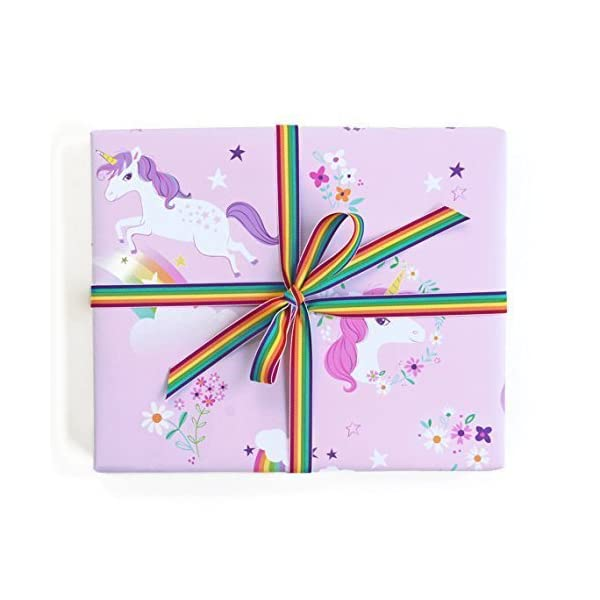 Sea Urchin Studio Gift Wrap Unicorns and Rainbows 3