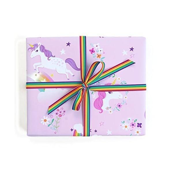 Sea Urchin Studio Gift Wrap Unicorns and Rainbows 3