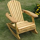 Trueshopping Mini Bowland Children's  Adirondack Rocking Chair Natural Wood Finish for Indoors or Out