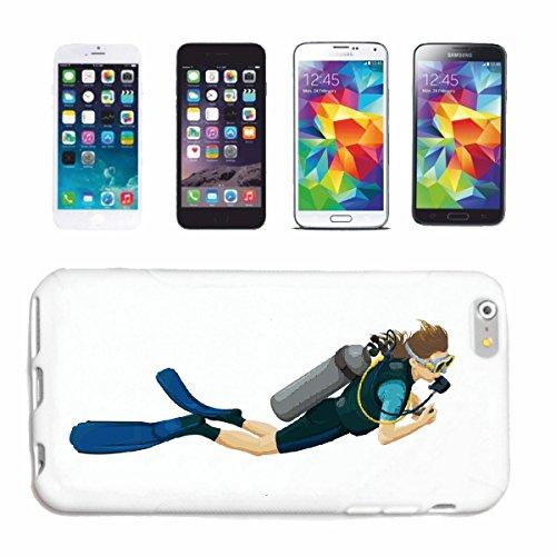 caja del teléfono iPhone 6S Buceador equipo de buceo buzo EQUIPO DE SALTO SALTO Caso duro de la cubierta Teléfono Cubiertas cubierta para el Apple iPhone en blanco