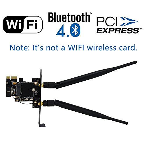 Sourcingbay M.2(NGFF) Wireless Card to PCI-e 1X - Antenna Passive Gps