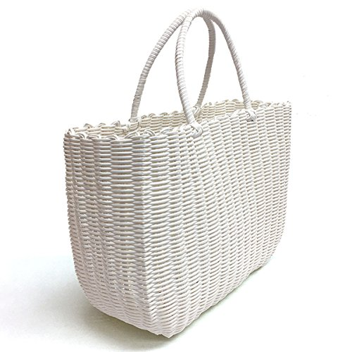 Tote Bag by Bambou, Fashion Purse Women, Waterproof Beach Bag, Ladies Shopping Bag, 100% Recycled Material (Summer White) ()