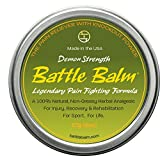 Demon Strength Pain Relief (2-ounce) – Battle Balm | All-Natural and Organic Topical Analgesic for Arthritis, Muscle Soreness, Sprains, Strains and more.