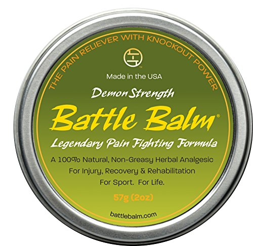 Stinger Disc - Demon Strength Pain Relief (2-ounce) - Battle Balm | All-Natural and Organic Topical Analgesic for Arthritis, Muscle Soreness, Sprains, Strains and more.